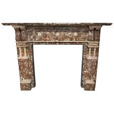 late victorian antique rouge marble fireplace surround for sale at