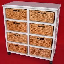 Wicker Kitchen Furniture Drawers Brilliant Basket Drawers Design Wicker Storage Units Ikea