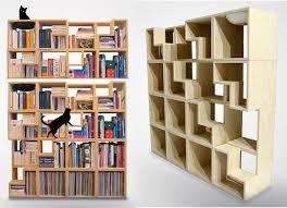 furnitures creative bookshelf designs features tectonic bookcase