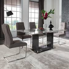 8 chair dining table serge living milano grey marble dining table with 4 6 or 8 chairs
