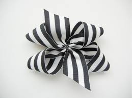 black and white striped ribbon inside out bow the ribbon retreat