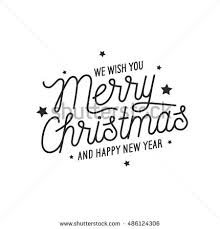 merry happy new year lettering stock vector 486124306