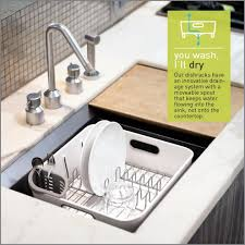 furniture classy simplehuman dish rack for modern kitchen storage