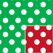 reversible christmas wrapping paper christmas polka dot reversible gift wrap christmas wrapping paper