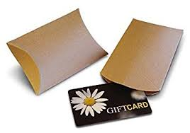gift card packs kraft pillow boxes for gift cards 50 pack health