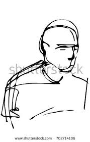sketch portrait male stock vector 702714106 shutterstock