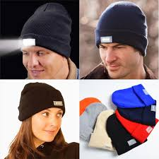 beanie with led lights glowing wool hat with 5pcs led light autumn winter black skullies