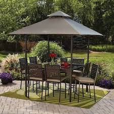 Patio Dining Sets With Umbrella with Outdoor Patio Dining Set Umbrella Canopy 10 Piece Counter Height