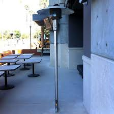 Stainless Steel Patio Heater Sunglo 50000 Btu Natural Gas Post Mount Patio Heater With Manual
