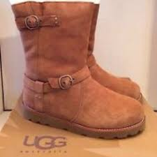 ugg australia noira chestnut sheepskin nwot ugh boots flash sale boot