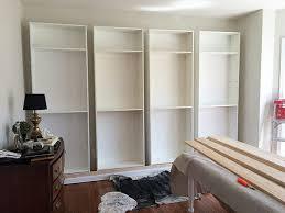 Floor To Ceiling Bookcases Floor To Ceiling Bookshelves Ikea Ikea Hack Billy Built In