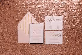 wedding invitations rose blush and rose gold