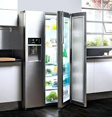 fridge red light refrigerator warning lights plumbed style fridge freezer