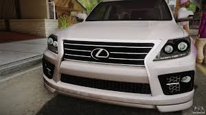 lexus sport design lexus lx570 f sport design for gta san andreas