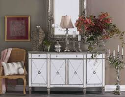 Mirror Credenza Furniture Mirrored Buffet With Gorgeous And Antique Design