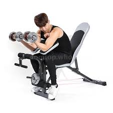 Body Solid Preacher Curl Bench Tomshoo Gym Total Body Workout Bench Set Home Fitness Exercise