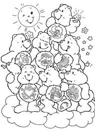 free printable care bear coloring pages kids care