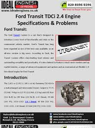 ford transit 2 4 tdci engine specifications u0026 problems motor