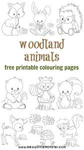 woodland animal colouring pages messy monster