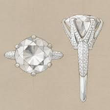 drawn ring diamond earring pencil and in color drawn ring