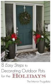 how to fill outdoor planters for the holidays the interior