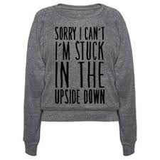 should i stay or should eggo crewneck sweatshirt stranger