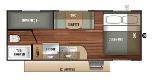 travel trailer floor plan 2018 launch outfitter 7 17bh