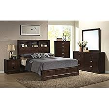 Rooms To Go Bedroom Sets King Amazon Com Roundhill Furniture Calais Solid Wood Construction