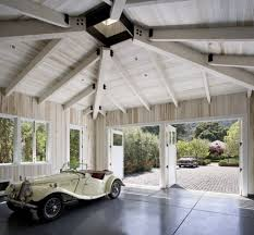 scored concrete garage contemporary with garage interior modern