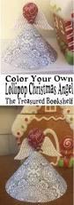 coloring lollipop christmas angel printable coloring
