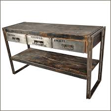 industrial console table with drawers vintage industrial could add a piece of sheet metal to the front