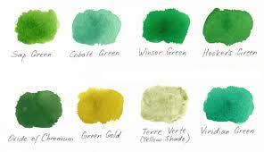 shades of green 3 ways of painting shades of green watercolor