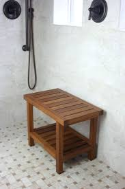 teak corner shower stool benches for bathrooms wooden benches for