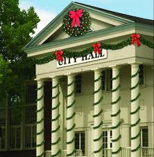 skyline building front commercial christmas decorations and