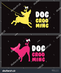 business card templates silhouette little dog stock vector