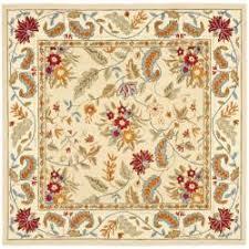 overstock com handmade paradise ivory wool rug 8 u0027 square