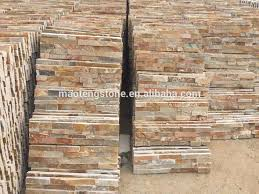Slate Cladding For Interior Walls Natural Stone Wooden Color Stone Cladding And External Walls Buy