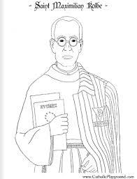 coloring august 14th saint maximilian kolbe catholic