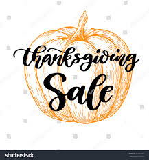 thanksgiving day sale vector card handwritten stock vector