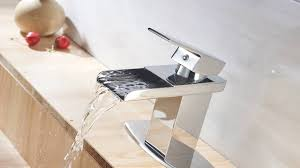 eyekepper modern single handle waterfall bathroom sink faucet