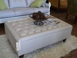 White Leather Ottoman White Ottoman Coffee Table Rascalartsnyc