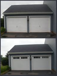 before after garage doors new v5 thermacore collection with stockbridge 2 4 lite windows