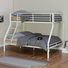 bunk beds walmart bunk beds twin over full white metal platform