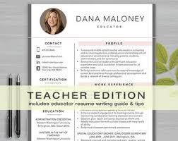 teacher resume items teaching resume etsy