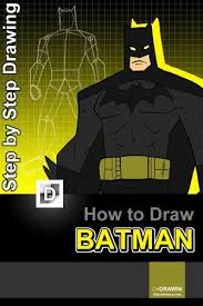 draw batman step step drawing batman books kids