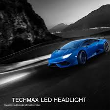 lamborghini aventador headlights in the dark techmax h1 led headlight bulbs all in one conversion kit 60w