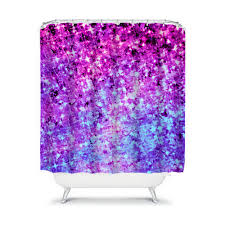 radiant orchid galaxy fine art painting shower curtain blue