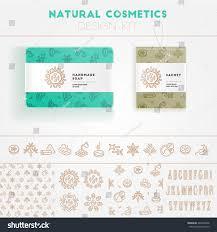 natural cosmetics design kit seamless pattern stock vector