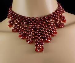 swarovski choker necklace images Red freshwater pearl swarovski crystal choker necklace in 1 jpg