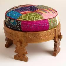 pouf ottoman stool square diy crochet 25669 interior decor